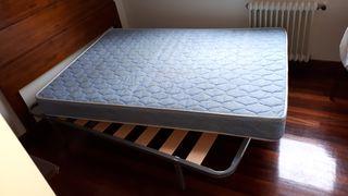 Somier de láminas y colchón de 135 x 190 cm