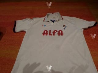 camiseta eibar alfa futbol retro match worn