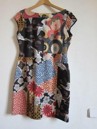 Vestido estampado estilo japonés Desigual