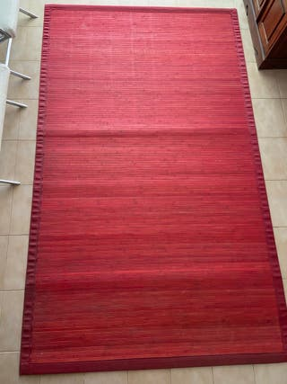 Alfombra bambú roja