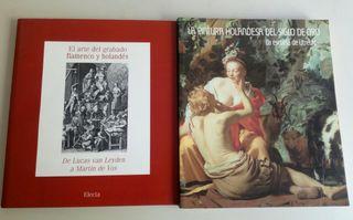 Lote de 2 Catálogos grabados y pintura flamenca.
