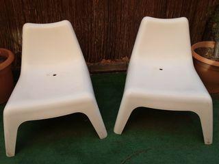 dos sillas jardin