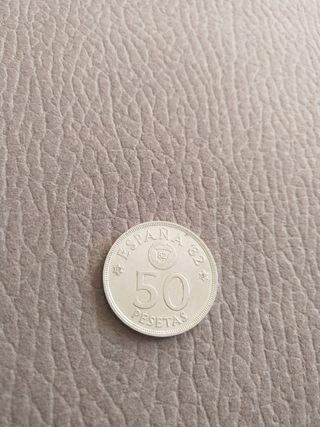 Moneda de 50 pesetas 1980 España 82