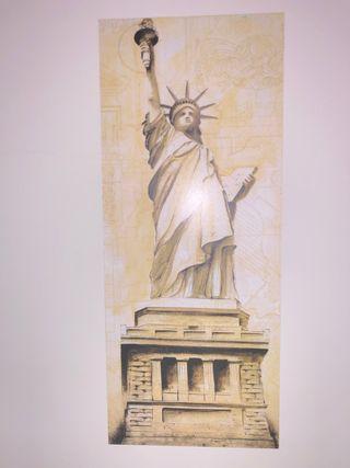 Se vende cuadro madera Estatua de la libertad.