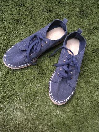 Alpargata calzado de jeans