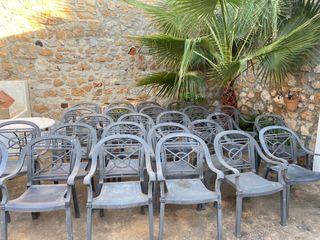 Sillas de terraza para uso doméstico y hostelería