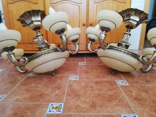 2 lámparas Alabastro alta gama