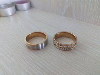 anillo chapado en oro