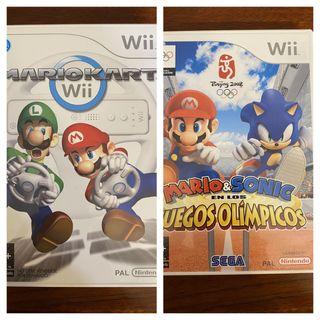 Juego Mario Wii: Mariokart y juegos olímpicos