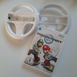 Mario Kart Wii con 2 volantes para Wii
