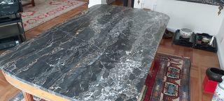 mesa comedor de mármol extensible