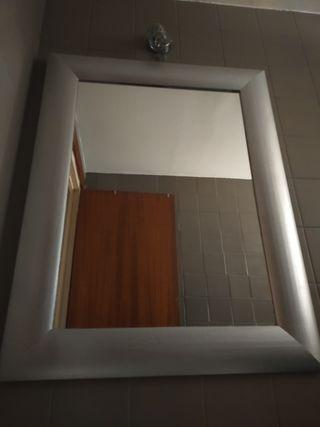 LJ espejo madera maciza pintada en Plata
