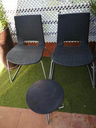 conjunto terraza o jardín