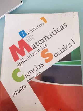 Matemáticas aplicadas a las ciencias sociales.