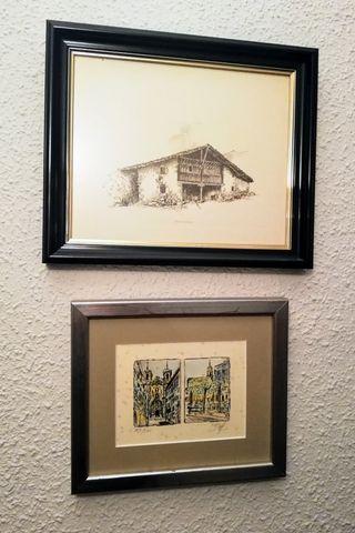 Tres cuadros decorativos