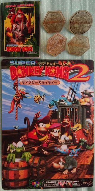 cositas de donkey kong famicon súper Nintendo game