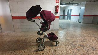 Cochecito/carro para bebés Stokke lila.
