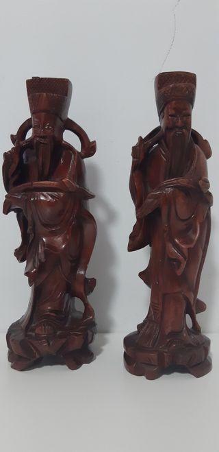 Figuras madera chinas