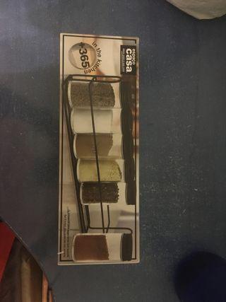 Especiero sin agujeros con soporte