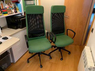2 sillas despacho ikea