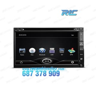 "RADIO GPS 2DIN GPS 7"" HD TÁCTIL BLUETOOTH USB SD C"
