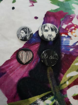 4 chapas de Kurt Cobain
