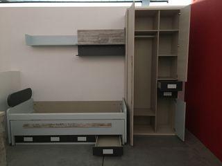 Dormitorio juvenil cama nido EXPOSICIÓN