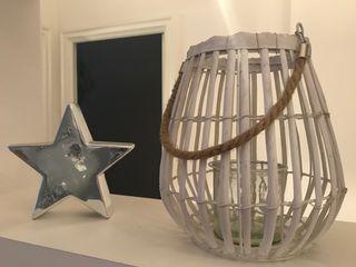 porta velas / candelabro y estrella