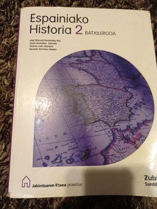 Libro de historia 2° bachillerato euskera