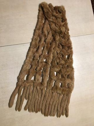 Estola bufanda pelo natural conejo