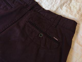 Pantalón tipo chino burdeos Pull & Bear Talla 46
