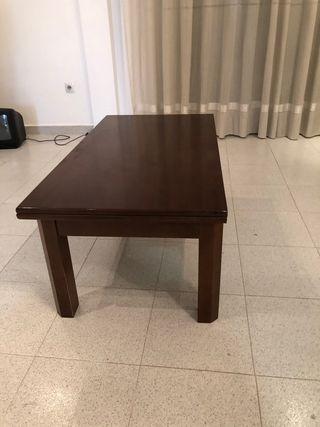 Mesa de café convertible en comedor