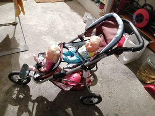 carrito gemelar juguete