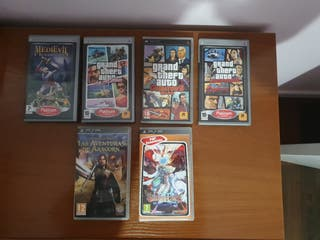 Lote juegos sony PSP
