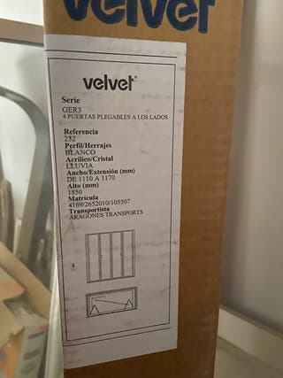 Mampara Velvet 4 puertas