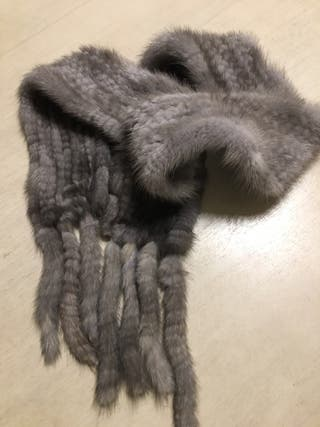 Estola bufanda vison natural tejido