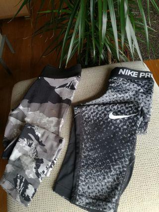 Mallas Nike y Puma