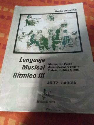 libro lenguaje musical rítmico III