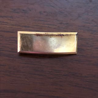 Balfour WW2 Army 1/20 10k GF Plain Bar Pin