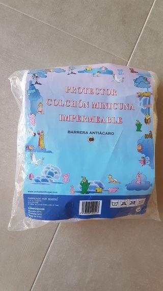 protector impermeable colchón minicuna o capazo