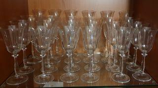 Copas de cristal de Bohemia