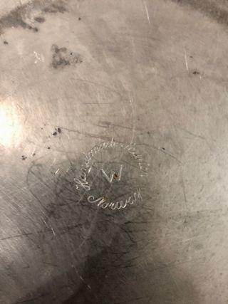 assiette ou plat en étain ancien ø 23,9 cm