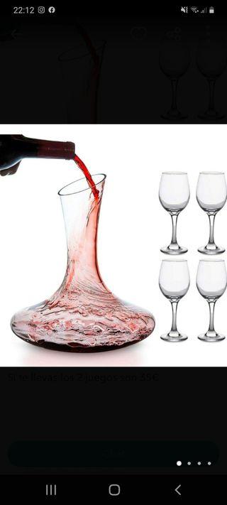 Decantador de Vinos, con copas incluidas