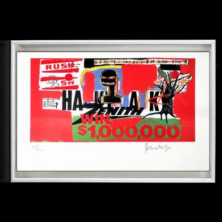 Jean-Michel Basquiat,(Win $ 1'000'000),1984,Litogr