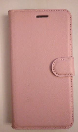Carcasa libro para móvil, color rosa