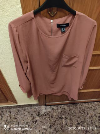 camisa rosa malva