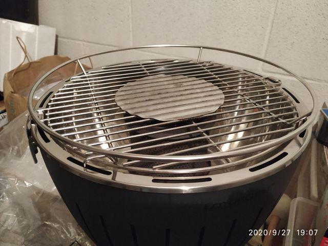 Barbacoa carbón sin humos