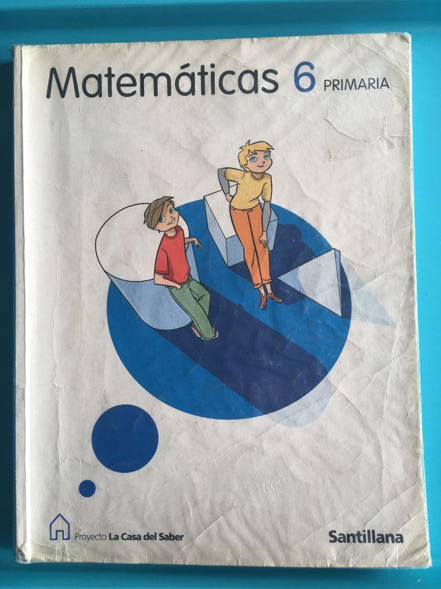 Libro de matemáticas 6º de primaria