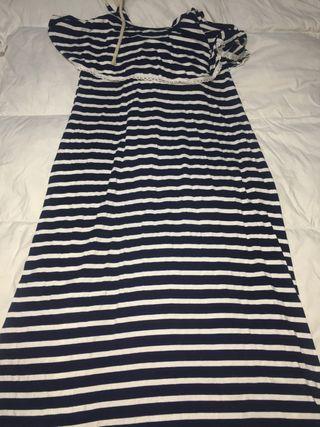 Vestido de rayas largo talla única