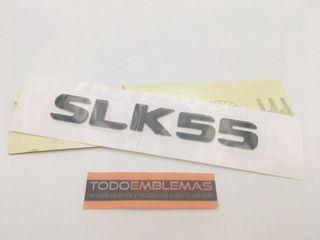 -- LETRAS TRASERAS MERCEDES SLK55 NEGRAS